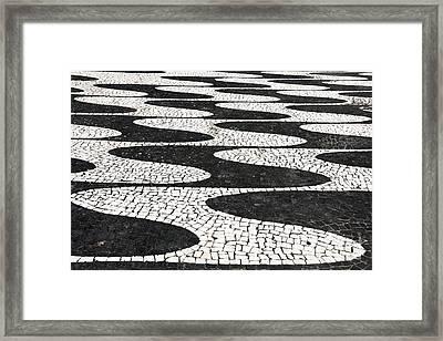 Portuguese Pavement Framed Print