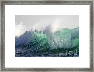 Portuguese Sea Surf Framed Print by Heiko Koehrer-Wagner