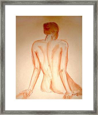 Pose 3 Framed Print by Ryan Burton