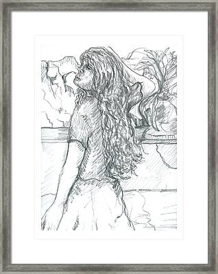Pose On The Patio Framed Print by Joseph Wetzel