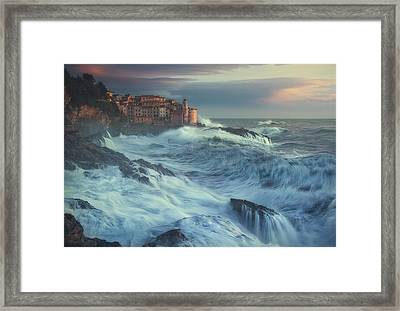 Poseido Awakens Framed Print
