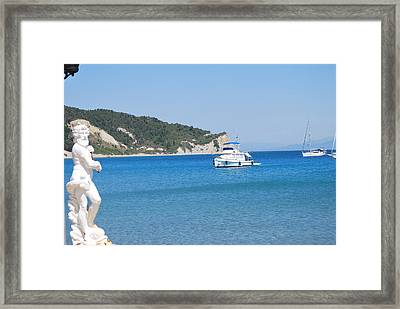 Poseidon 3 Framed Print by George Katechis