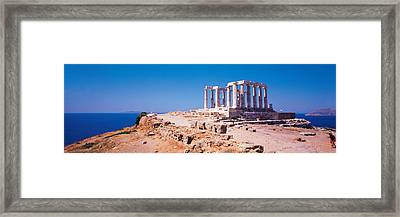 Poseidon Cape Sounion Greece Framed Print by Panoramic Images