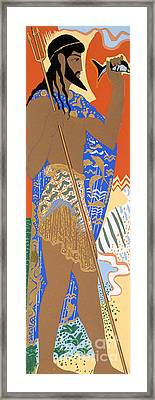 Poseidon Framed Print by Francois-Louis Schmied
