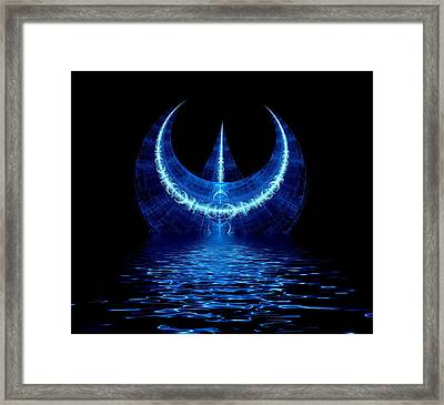 Poseidon Rising Framed Print by Lea Wiggins