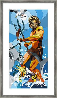 Poseidon - W/hidden Pictures Framed Print