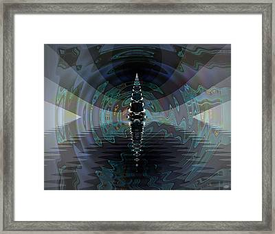 Poseidon's Hall Framed Print by Nafets Nuarb