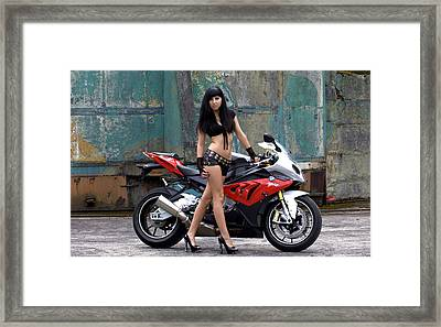 Poser Framed Print by Lawrence Christopher