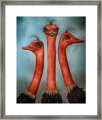 Posers 2 Edit 3 Framed Print by Leah Saulnier The Painting Maniac