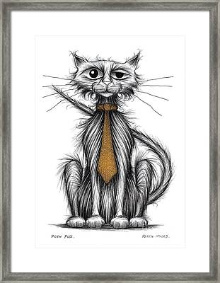 Posh Puss Framed Print by Keith Mills