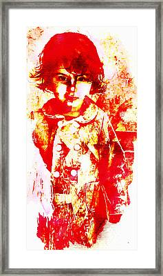 Posh Red Baby Framed Print by Andrea Barbieri