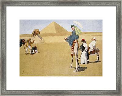 Posing At The Pyramids, From The Light Framed Print by Lance Thackeray