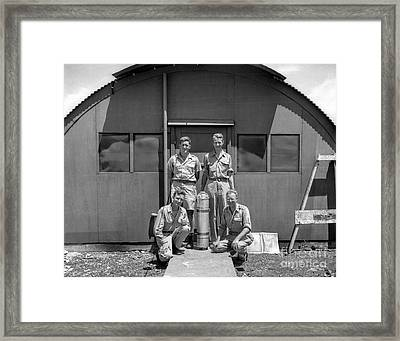 Posing With Atomic Weapon Core Framed Print