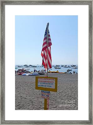 Positano - American Flag  Framed Print by Nora Boghossian