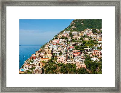 Positano City Framed Print