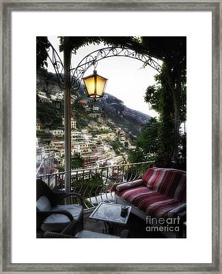 Positano Evening Framed Print by George Oze