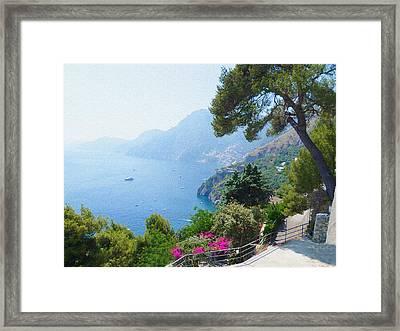 Positano Italy Amalfi Coast Delight Framed Print by Irina Sztukowski