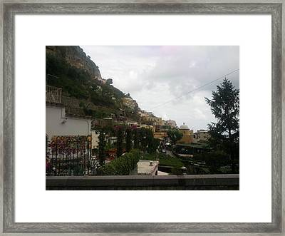 Positano Italy II Framed Print by Shesh Tantry