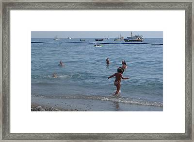 Framed Print featuring the photograph Positano - Occhiali by Nora Boghossian