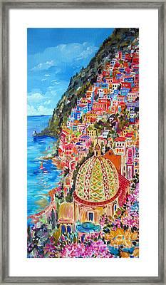 Positano Pearl Of The Amalfi Coast Framed Print