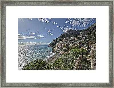 Positano Seascape Framed Print