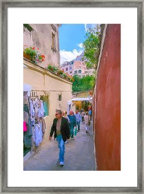 Positano Framed Print by SM Shahrokni