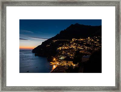 Framed Print featuring the photograph Positano Sunset by Carl Amoth