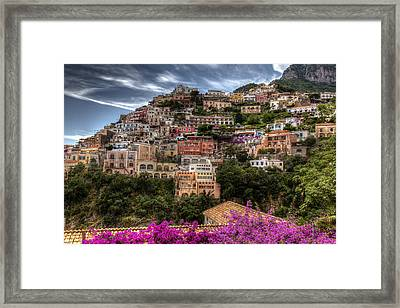 Framed Print featuring the photograph Positano by Uri Baruch