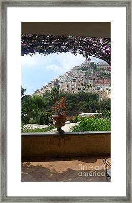 Positano - View Framed Print by Nora Boghossian
