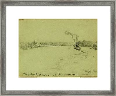 Position Of Ft. Henry On Tennessee River Framed Print by Quint Lox