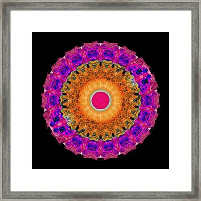 Positive Energy 1 - Mandala Art By Sharon Cummings Framed Print
