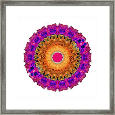 Positive Energy 2 - Mandala Art By Sharon Cummings Framed Print by Sharon Cummings