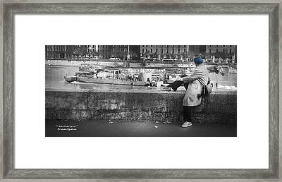 Framed Print featuring the photograph Positive Meditation On The River by Stwayne Keubrick