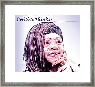 Positive Thinker Pastel Framed Print by Jacqueline Lloyd