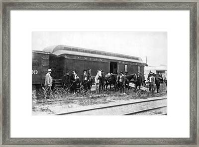 Posse After The Wild Bunch Framed Print by Underwood Archives