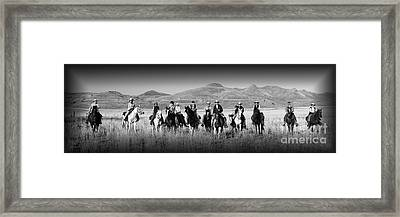 Posse Framed Print by Dennis Hammer