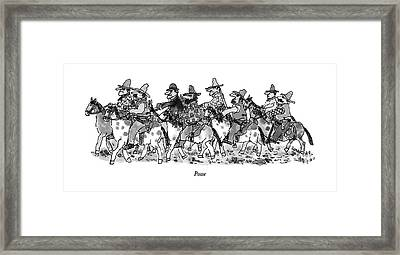 Posse Framed Print by William Steig