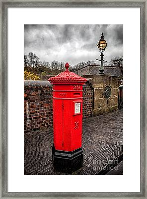 Post Box Framed Print by Adrian Evans