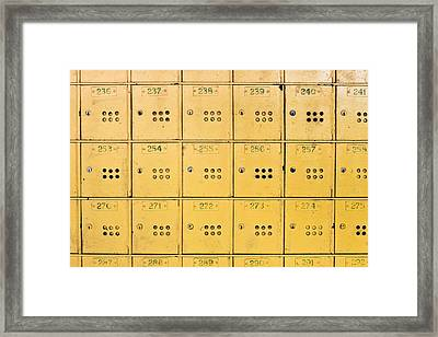 Post Boxes Framed Print by Tom Gowanlock