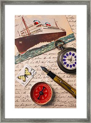 Post Card And Letter Framed Print by Garry Gay