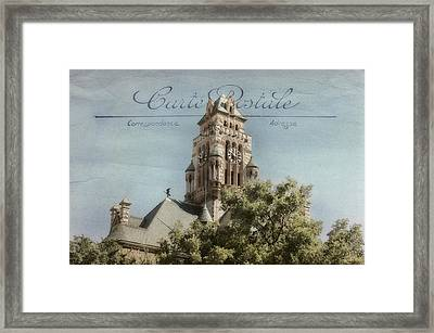 Post Card Framed Print