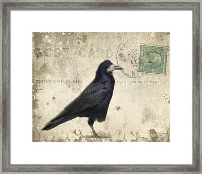 Post Card Nevermore Framed Print