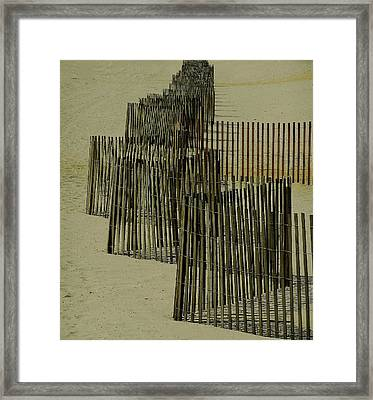 Post Hurricane Sandy Fencing Framed Print