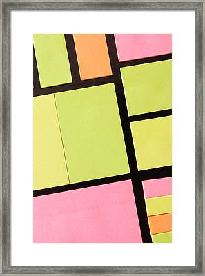 Post-it Notes Framed Print by Tom Gowanlock