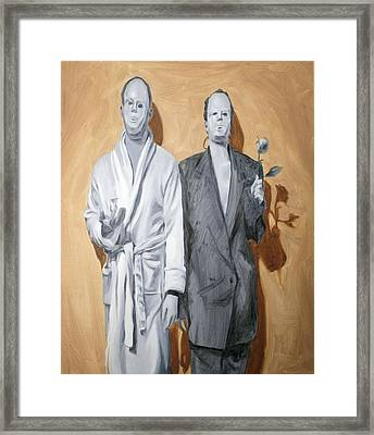 Post Modern Intimacy I Framed Print by Alison Schmidt Carson