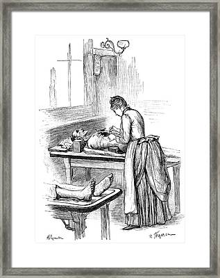Post-mortem Examination, 1890 Framed Print by Science Photo Library