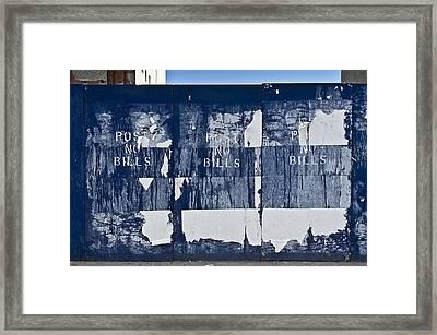 Post No Bills Framed Print by Gary Eason