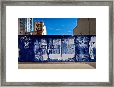Post No Bills Hoarding Framed Print by Gary Eason