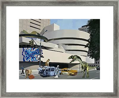 Post Nuclear Guggenheim Visit Framed Print