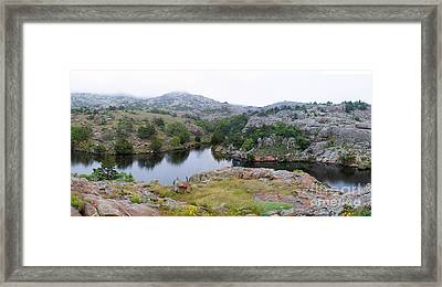 Post Oak Lake, Oklahoma Framed Print by Gregory G. Dimijian